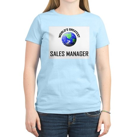 World's Greatest SALES MANAGER Women's Light T-Shi