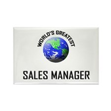 World's Greatest SALES MANAGER Rectangle Magnet