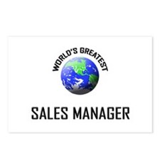World's Greatest SALES MANAGER Postcards (Package