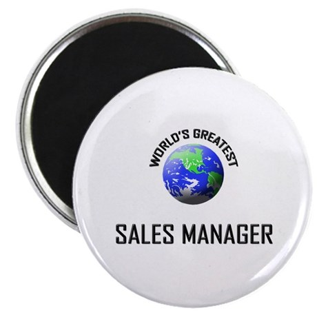 """World's Greatest SALES MANAGER 2.25"""" Magnet (10 pa"""