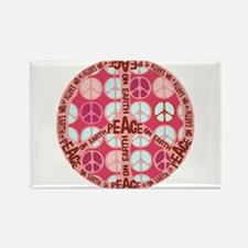Pink - Peace on Earth Rectangle Magnet