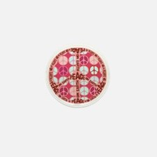 Pink - Peace on Earth Mini Button