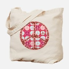 Pink - Peace on Earth Tote Bag