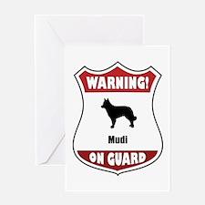 Mudi On Guard Greeting Card