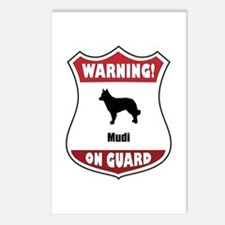 Mudi On Guard Postcards (Package of 8)