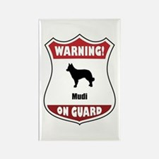 Mudi On Guard Rectangle Magnet