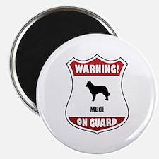 Mudi On Guard Magnet