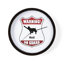 Mudi On Guard Wall Clock