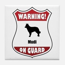 Mudi On Guard Tile Coaster