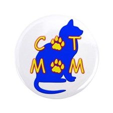 "Cat Mom 3.5"" Button"