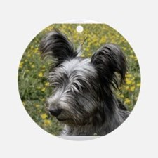 Skye Terrier In Buttercups Ornament (Round)
