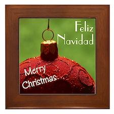 Spanish Christmas Framed Tile