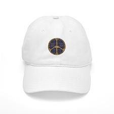 Blue Peace On Earth Vintage Baseball Baseball Cap