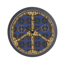 Blue Peace On Earth Vintage Wall Clock