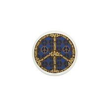 Blue Peace On Earth Vintage Mini Button