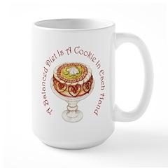 A Balanced Diet... Large Mug