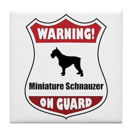 Schnauzer On Guard Tile Coaster
