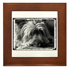 Skye Terrier- Black & White Framed Tile