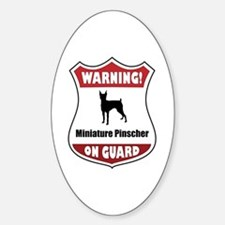 Pinscher On Guard Oval Decal