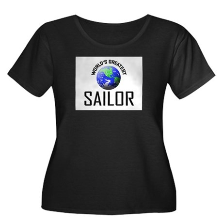 World's Greatest SAILOR Women's Plus Size Scoop Ne