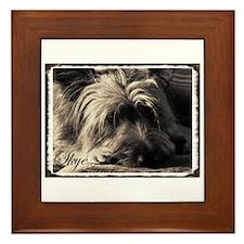 Skye Terrier- Sepia Framed Tile