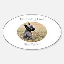 Skye Terrier Puppy - Everlast Oval Decal