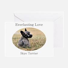 Skye Terrier Puppy - Everlast Greeting Card