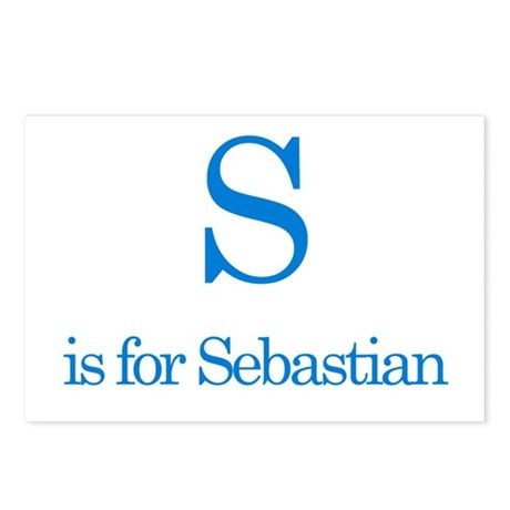 S is for Sebastian Postcards (Package of 8)