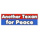 Texan for Peace Bumper Sticker