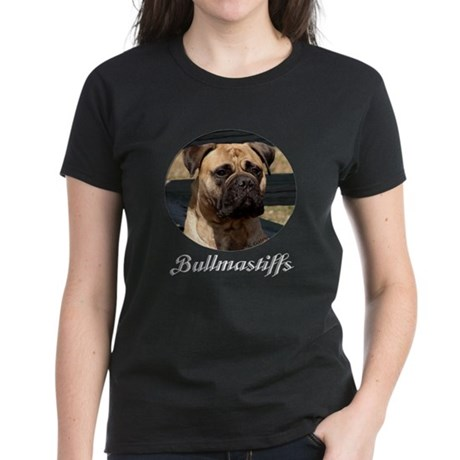 Bullmastiff Face Women's Dark T-Shirt