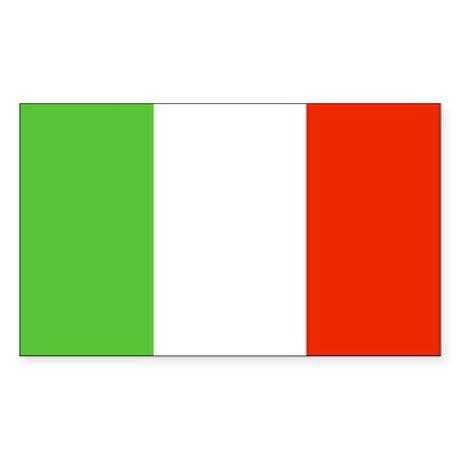 Italian Flag Rectangle Sticker