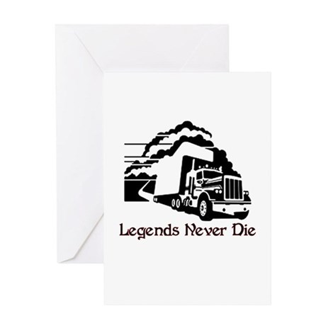 Legends Never Die Greeting Card