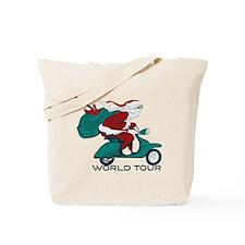 Santa's World Tour Scooter Tote Bag