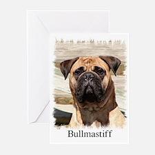 Bullmastiff- Color Head Study Greeting Cards (Pack