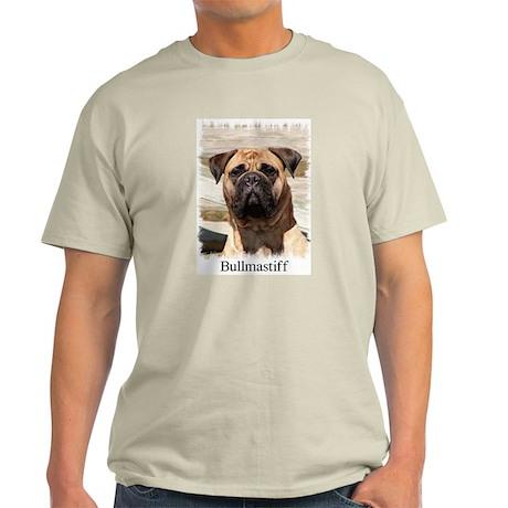 Bullmastiff- Color Head Study Ash Grey T-Shirt