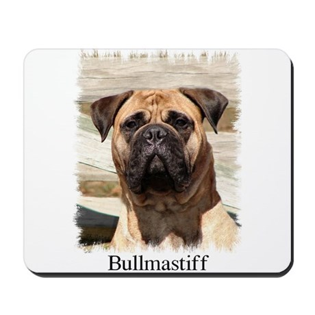 Bullmastiff- Color Head Study Mousepad