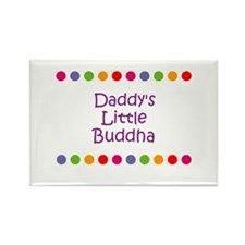 Daddy's Little Buddha Rectangle Magnet