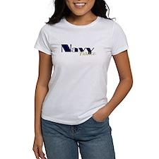 Navy Fiance Blue & Gold Tee