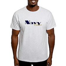 Navy Fiance Blue & Gold T-Shirt