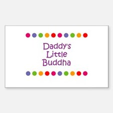 Daddy's Little Buddha Rectangle Decal