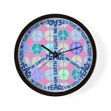 Multi Peace On Earth Sign Wall Clock