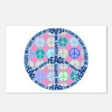 Multi Peace On Earth Sign Postcards (Package of 8)