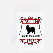 Lagotto On Guard Greeting Card