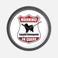 Lagotto On Guard Wall Clock