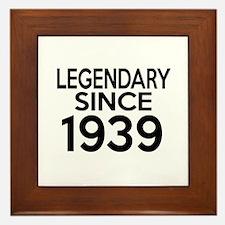 Legendary Since 1939 Framed Tile
