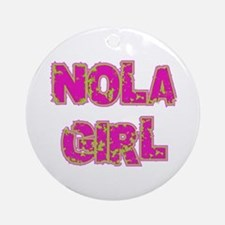 NOLA Girl Ornament (Round)