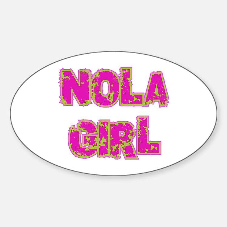 NOLA Girl Oval Decal