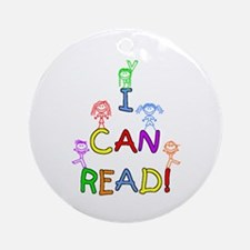 I Can Read 1 Ornament (Round)
