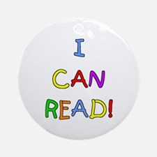 I Can Read 2 Ornament (Round)