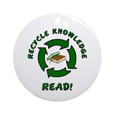 Recycle Knowledge Ornament (Round)